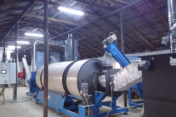 Drum Dryer for Pelleting